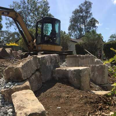 NS Earthmoving Services - Domestic Earthmoving Boulders