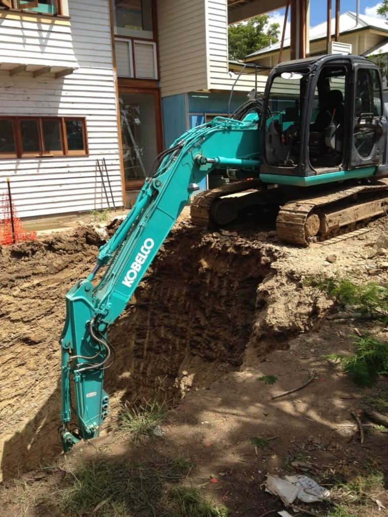 NS Earthmoving - Trench Digging Using Back Hoe